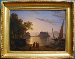 Castel dell'Ovo a Napoli - Anton Sminck Plitoo - Galleria Nazionale d'Arte Moderna