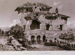 Villa Spada - dopo lo scontro tra gli uomini di Manara e i francesi.