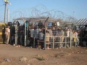 Fila al checkpoint
