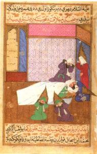 La morte di Maometto - manoscritto ottomano del Siyar-i Nebi - 1595