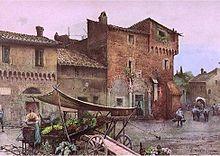 Case medievali a Santa Cecilia in Trastevere - Roesler Franz