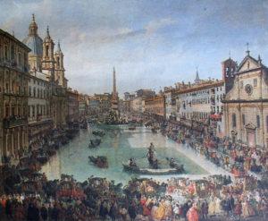 Festa del Lago di Piazza Navona 1756 - Giovanni Paolo Pannini